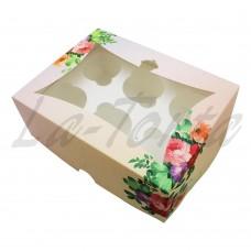 Коробка для капкейков на 6шт Нежность (5шт)