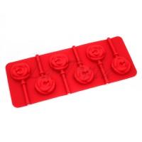 Силиконовая форма для шоколада и карамели Роза на палочке