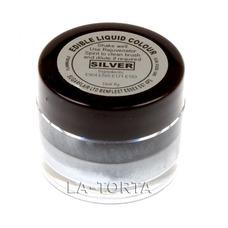 Жидкий краситель Sugarflair для готовых изделий Серебро