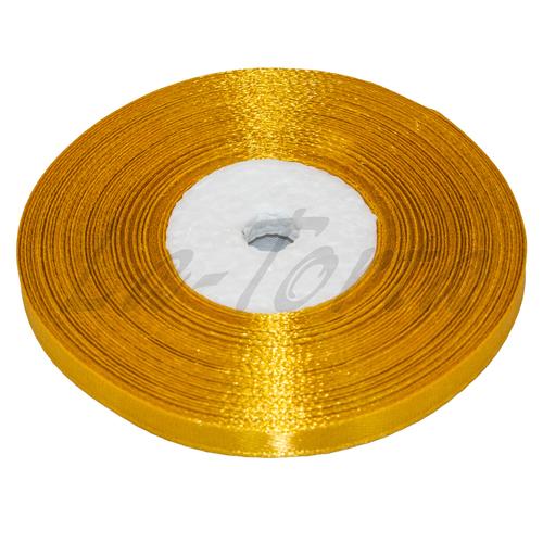 Лента атлас узкая Золото