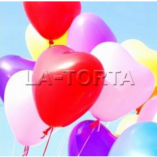 Воздушные шарики Сердца(ассорти)