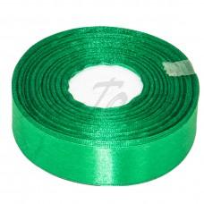 Лента атлас широкая Зеленая