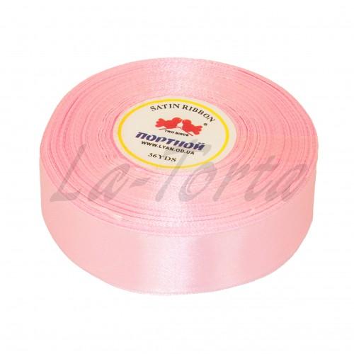 Лента атлас широкая Розовая