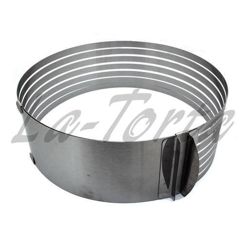 Кольцо для нарезания бисквита раздвижное(высота 8см)