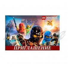 Пригласительные открытки Ninjago, 20шт.