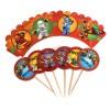 Набор топперов и накладок Ninjago (оранжевые)