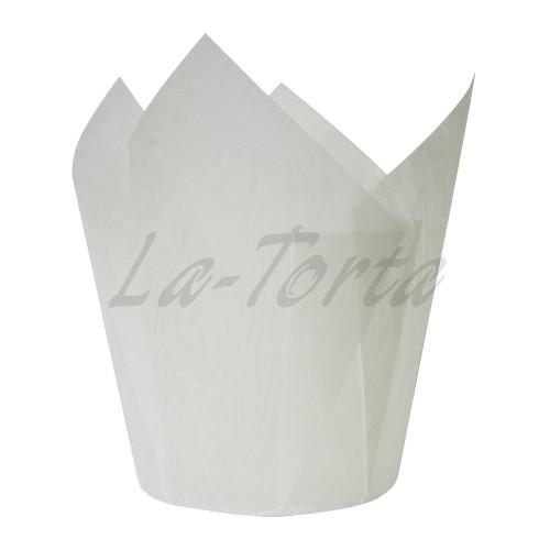 Паперові формочки Тюльпан - Білі (150шт)