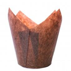 Бумажная форма для кексов Тюльпан - Коричневые (150 шт)