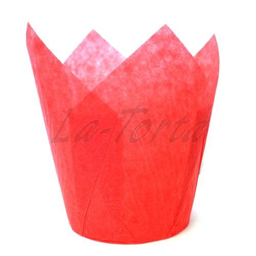 Бумажные формочки Тюльпан - Красные (150шт)
