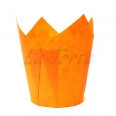 Бумажная форма для кексов Тюльпан - Оранжевые (150 шт)