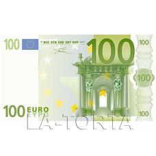Вафельное украшение 100 евро 5х9