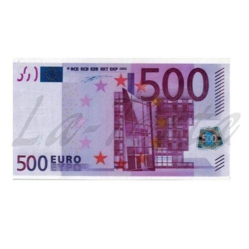 Вафельное украшение 500 евро 5х9