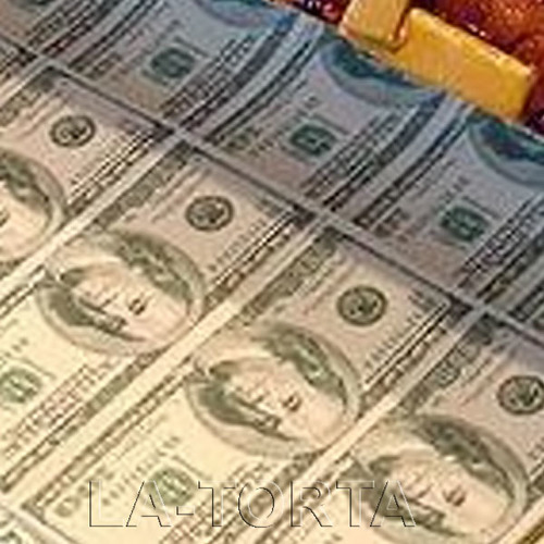 Вафельный лист Доллары 20х30