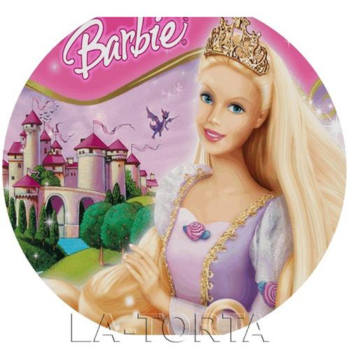 Вафельная картинка Барби 14х14