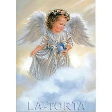 Вафельная картинка Ангелочек 20х29