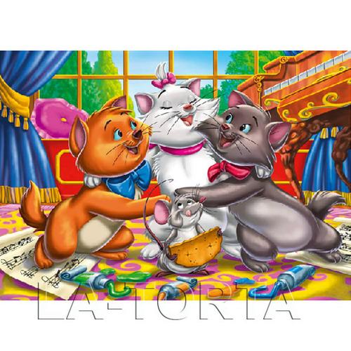 Вафельная картинка Коты-аристократы 14х20