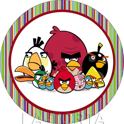 Вафельная картинка Angry Birds 20 x 20