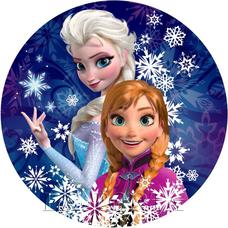 Вафельная картинка  Анна и Эльза 20х20
