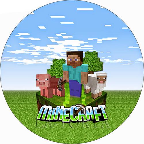 Вафельная картинка Minecraft 20х20