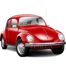 Вафельная картинка Volkswagen Beetle 14х20