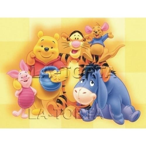 Вафельная картинка Винни Пух и друзья 14х20