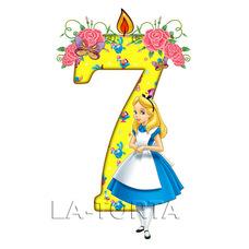 Вафельная картинка Детские цифры 7 Золушка 8х14