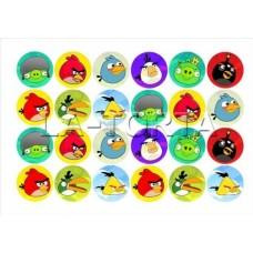 Вафельная картинка для маффинов Птички 14х20