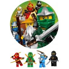 Вафельный лист Lego 20х30см