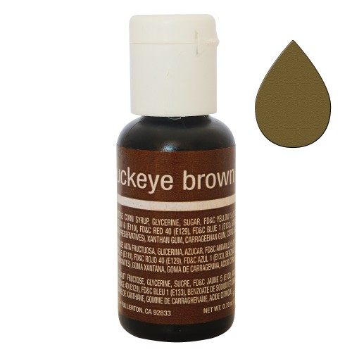 Гелевий барвник Chefmaster Liqua-Gel Buckeye Brown