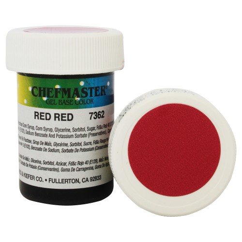 Гель-фарба Base Color Chefmaster Red Red 28грам