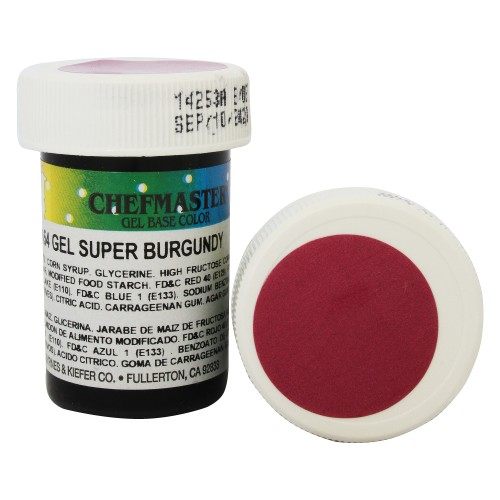 Гель-фарба Base Color Chefmaster Super Burgundy 28грам