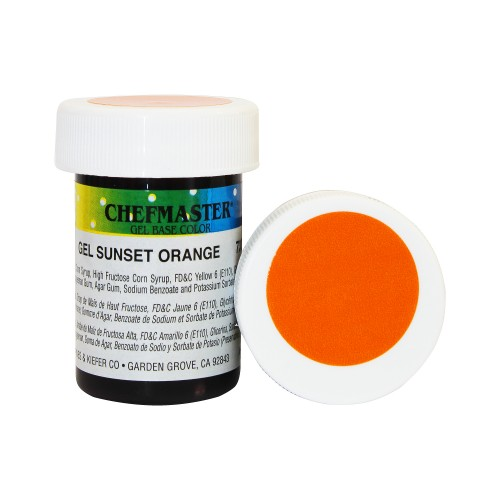 Гель-фарба Base Color Chefmaster Sunset Orange 28грам