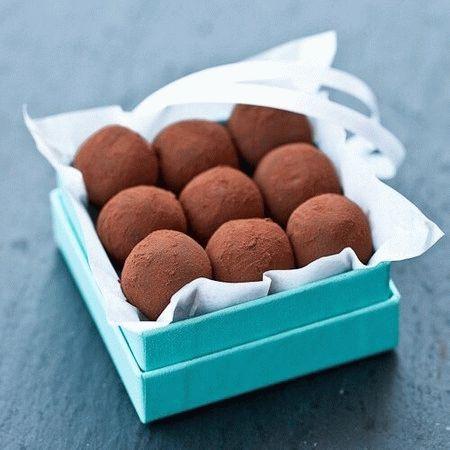 Шоколадно-карамельные трюфели