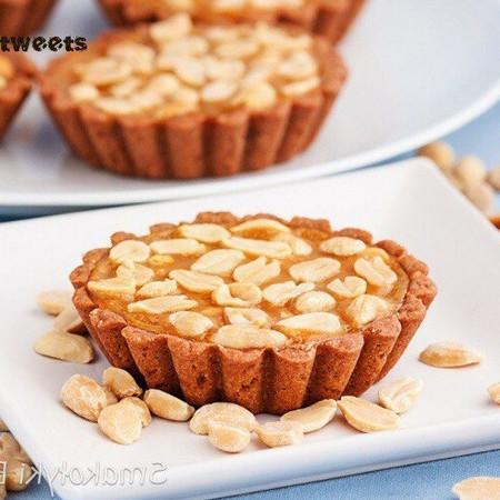 Карамельные тарталетки с орехами